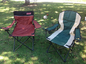 2 folding chairs like new condition - $10 each