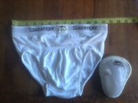 Small boy's cricket abdominal protector/box/guard and briefs,new.
