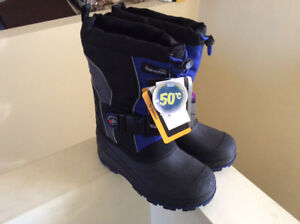 Brand new snow boots and jackets