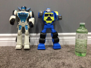 Playskool transformer rescue bots, Quick Shadow and Salvage