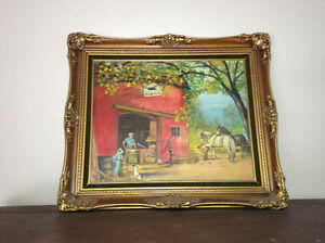 Antique oil painting in great condition framed for sale