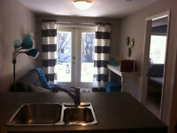 Avail Sept 1-June 30/16 -New One Bedroom Furnished Down Duplex