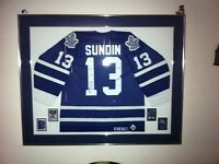 Mats Sundin signed Toronto Maple Leafs jersey