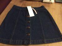 Girls Denim Skirt. Age 12