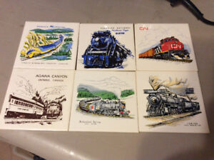 6 Vintage Headford Ceramics of Toronto Ceramic a Railway Tiles