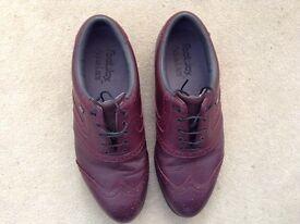 Men's Foot-Joy Aqua Lites Oxblood Golf Shoes