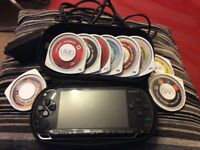 PSP 16gb with 9 games