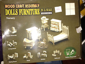 Wooden doll furniture kits for sale London Ontario image 1