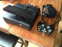 XBOX 360 with Kinect and 3 games
