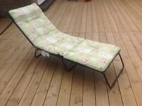 Sun lounger / folding bed single x2 In excellent condition