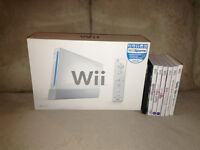 Launch Model Wii Console In Box with 7 Games $125