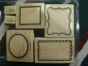 "Stampin' Up ""Label Classics"" retired stamp set"