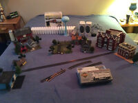 HO model train collection and accessories