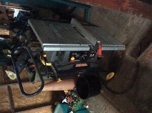 Craftsman table saw (burnt motor) with stand.refer to picture