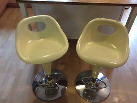 2 Next plastic bar stools