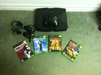 ORIGINAL XBOX, ALL WIRES, 4 GAMES + CONTROLLER