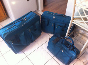 samsonite luggage set teal green.