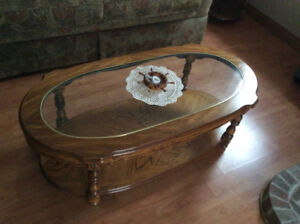 Coffee Table and Two End Tables - solid and mint condition