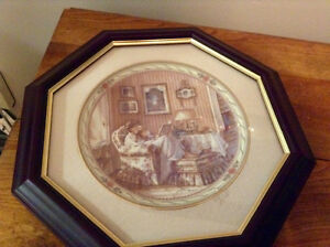Assortment of framed Trisha Romance collectable plates