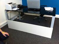 Black Glass designer Italian office desk or table (High Quality)