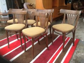 Set of Six Vintage Bentwood Chairs