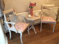 Vintage shabby chic effect table & chairs