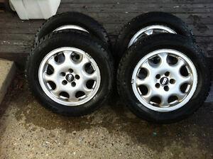 4 - 205/60R15 NEW Winter tires. 98% tread - VW Passat VR6 Rims