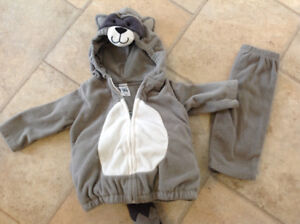 Carter's Raccoon Costume, size 3-6 months