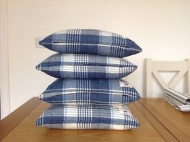 4 Beautiful Laura Ashley Feather filled Cushions