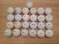 25 NIKE GOLF BALLS