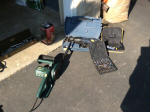 Lot of tools including drills, sander and jack asking $150