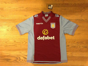 Aston Villa Soccer Jersey UK 18 Ladies New With Tags