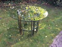 Merrow associates? Mid century chrome glass table
