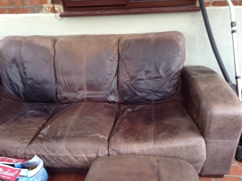 3 Seater Dfs Caesar Leather Sofa And Footstool In Norwich Norfolk Gumtree