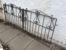 Pair of decorative garden gates.