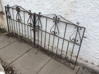 Pair of decorative garden gates.