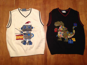 2 Christmas sweater vests London Ontario image 1