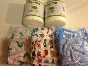 For Sale: Three New Cloth Diapers with Inserts and Liners