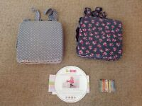 2 Minene children's Booster Cushions / seat for table / eating