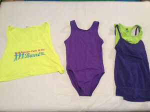 Dance body suit and tops size 8 to 10