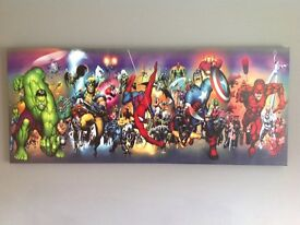Marvel Superhero wall Art Canvas, includes Spiderman, The Incredible Hulk and Captain America