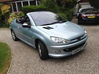 Peugeot 206 1.6 ( a/c ) 2004MY Coupe Cabriolet Allure - 45,000 MILES! STUNNING!!
