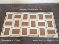 Wedding table plan/ photo frame