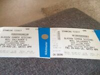 2 face value tickets for Noel Gallaghers high flying birds 26/8/16