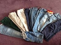 Boys bundle jeans trousers age 1-2 years