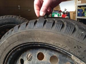 215/50R17 Winter tires on rims