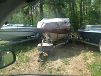 Sunrunner19ftboat with catkins trailer