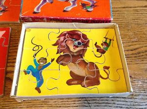 RARE VINTAGE WOODEN. 3 IN 1 ANIMAL JIGSAW PUZZLE 27 PIECES Gatineau Ottawa / Gatineau Area image 2