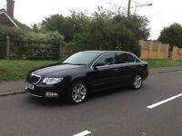 BLACK SKODA SUPERB