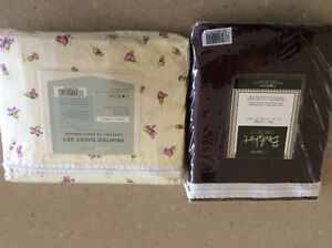 Brand New a Twin Sheet Set and Bed Skirt